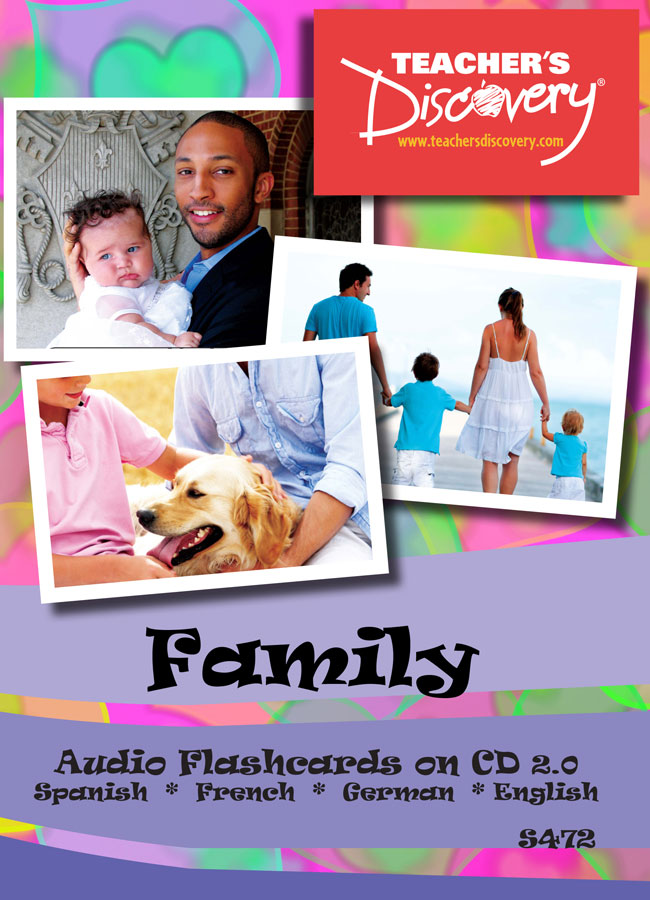 Audio Flashcards Spanish/French/German/English Family (2010)